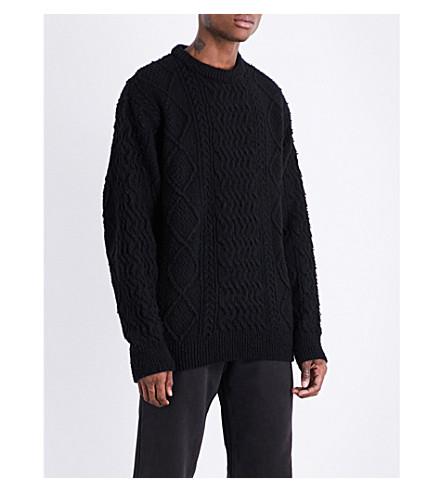 YEEZY 季节5矮胖针织羊毛混纺毛衣 (墨水