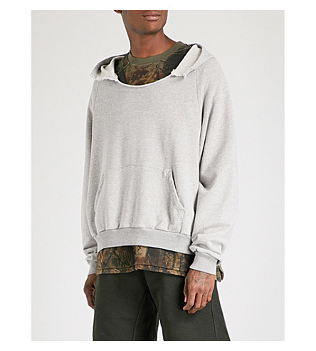 YEEZY Season 5 Rip cotton-jersey hoody (Heather