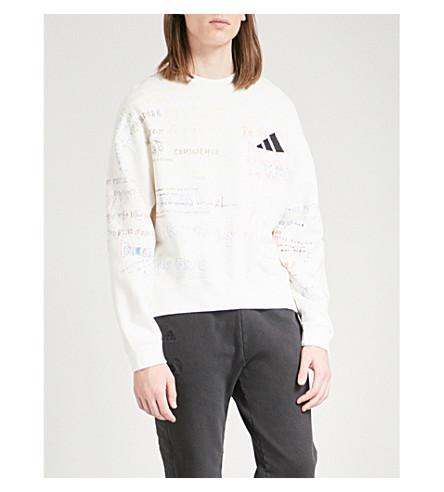 YEEZY Season 5 brand patch cotton-blend jumper (Heather