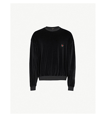YEEZY Season 5 brand patch cotton-blend jumper (Ink