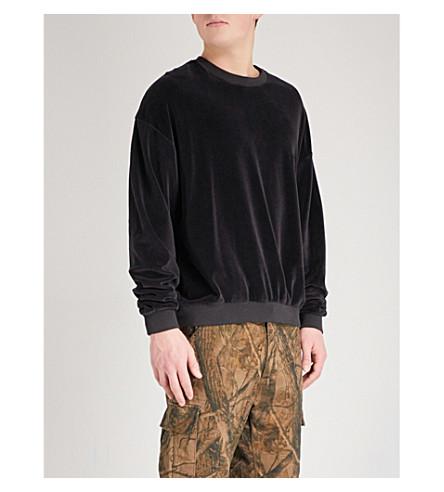 YEEZY Season 5 brand patch cotton-blend jumper (Ink