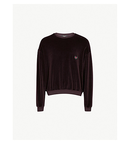 YEEZY 季 5 品牌片棉混合毛衣 (Oxblood