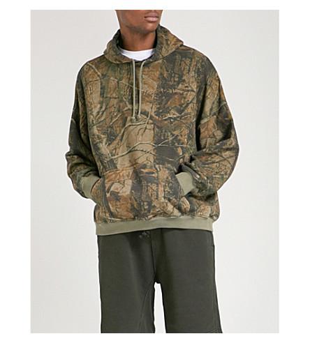 YEEZY Season 5 Wolves camouflage-print cotton-jersey hoody (Khaki