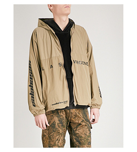 YEEZY Las Virgenes shell windbreaker jacket (Military+stone