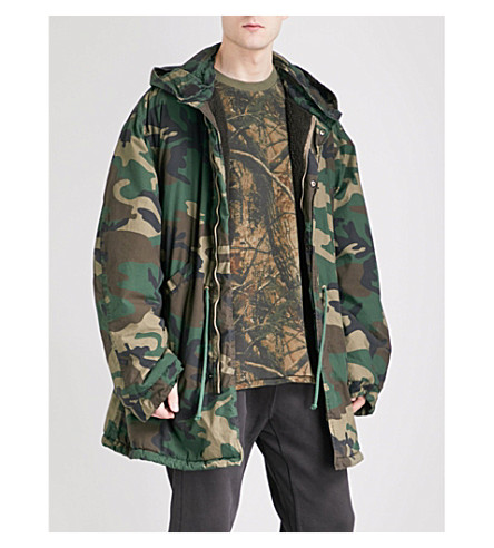 YEEZY Season 5 military cotton-canvas parka jacket (Khaki