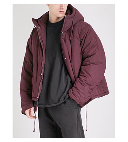 YEEZY Season 5 oversized cotton-canvas puffer jacket (Oxblood