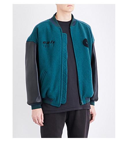 YEEZY Season 5 Cali wool and leather bomber jacket (Emerald+ink