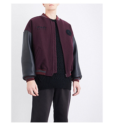 Season 5 Cali wool and leather bomber jacket