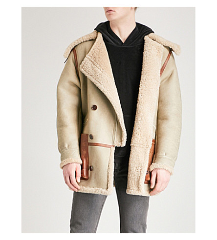 YEEZY Season 5 shearling jacket (Natural cream