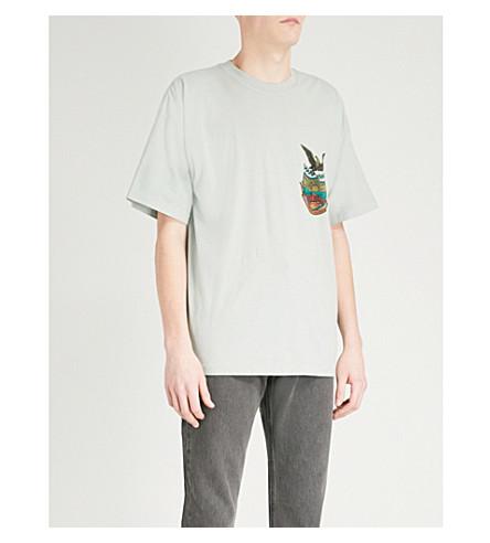 YEEZY Season 5 Calabasas cotton-jersey T-shirt (Hospital+blue+light