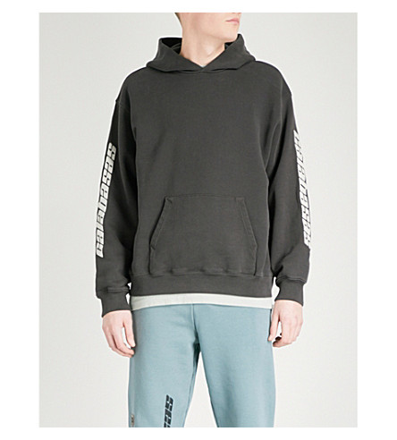 YEEZY Printed oversized cotton-jersey sweatshirt (Grace