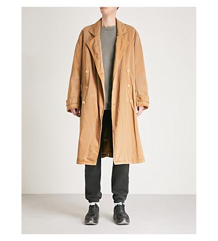 YEEZY Season 6 oversized cotton-blend trench coat (Sand