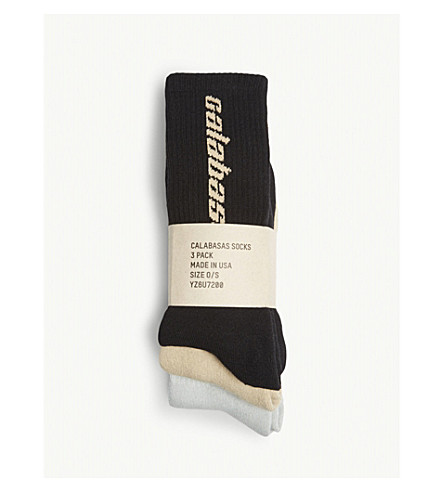 YEEZY Calabasas pima cotton-blend socks 3-pack (Combo
