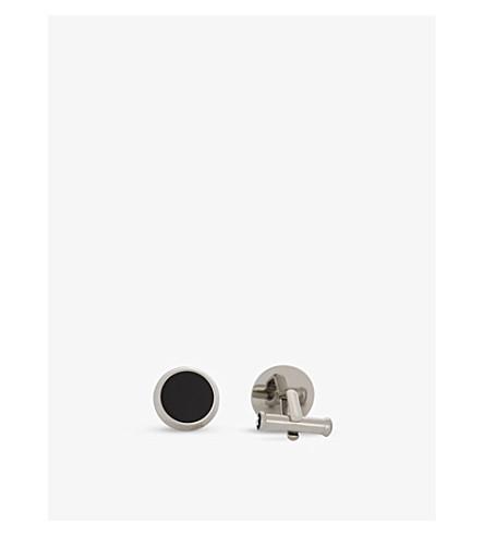 MONTBLANC Silver-tone Meisterstück cufflinks (Silver+black