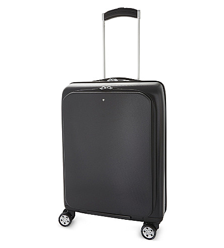 MONTBLANC Nightflight four wheel carry-on trolley suitcase 53cm (Black