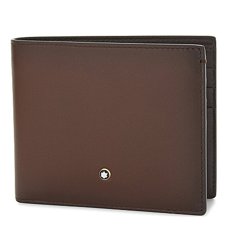 MONTBLANC Sfumato leather wallet (Brown
