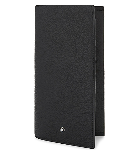 MONTBLANC Grained leather billfold wallet (Black