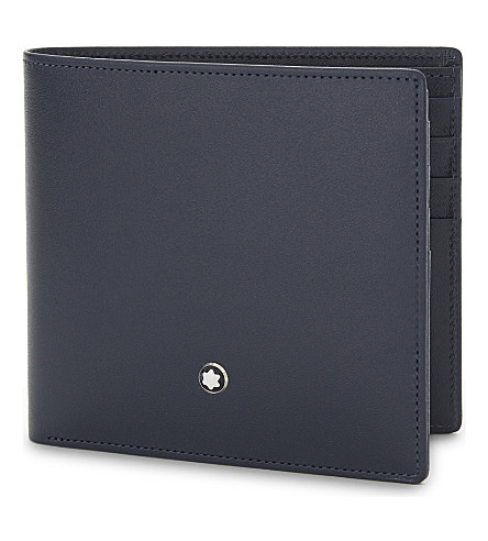 MONTBLANC Leather billfold wallet (Navy