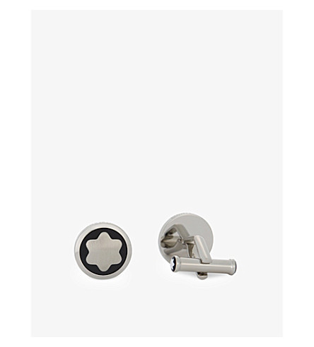 MONTBLANC Stainless steel star cufflinks (Silver