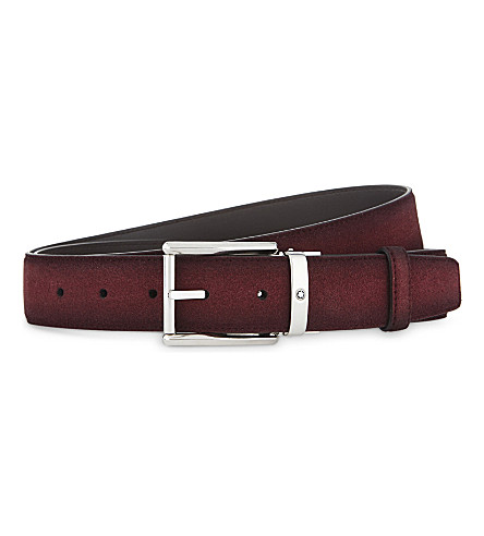 MONTBLANC Sfumato suede belt (Red