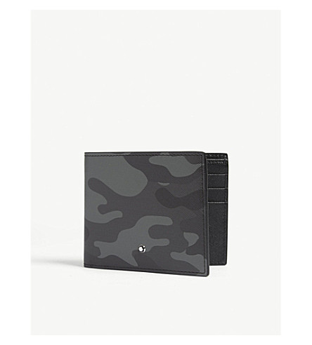 MONTBLANC Camouflage leather wallet (Grey