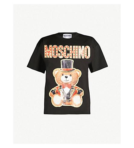 MOSCHINO Teddy-print cotton-jersey T-shirt (Black