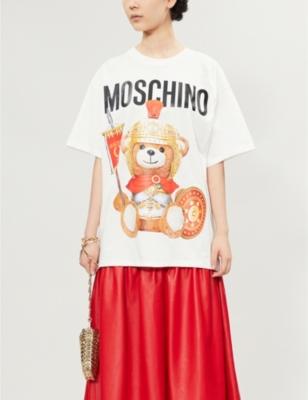 Bear-print cotton-jersey T-shirt