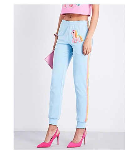 MOSCHINO My Little Pony cotton-blend jogging bottoms (Light+blue