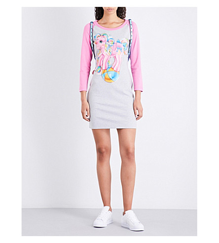 MOSCHINO My Little Pony-print cotton-blend dress (Mel+grey/pink