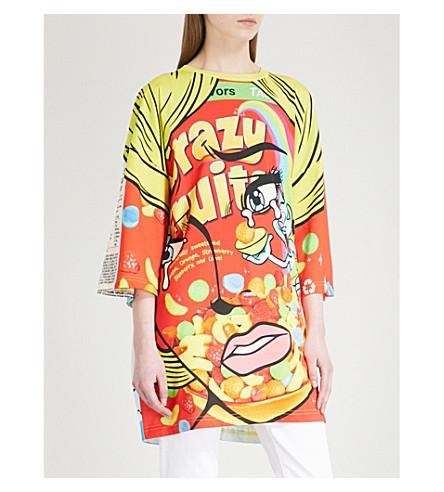 MOSCHINO Logo-print cotton-jersey dress (Rainbow