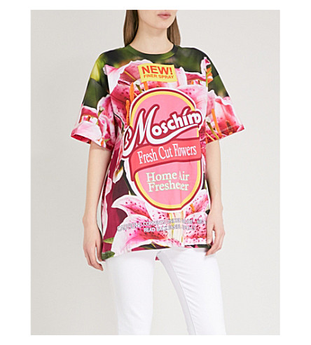 MOSCHINO Floral-print cotton T-shirt (Multi