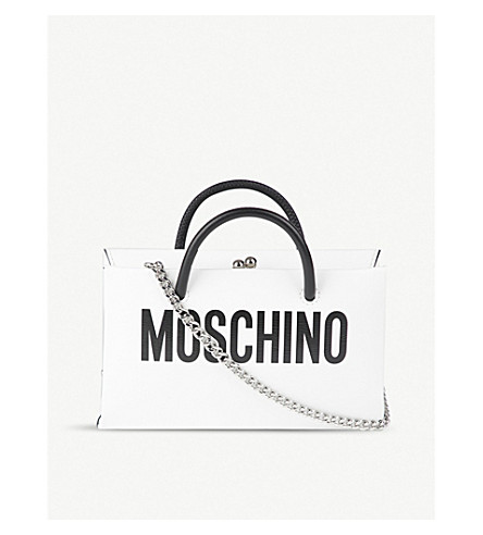 MOSCHINO Moschino leather cross-body bag (White