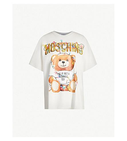MOSCHINO Teddy-print cotton-jersey T-shirt (White