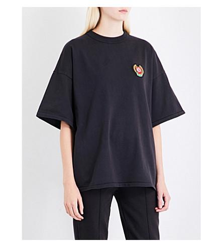 YEEZY Season 5 patch appliqué cotton-jersey T-shirt (Ink