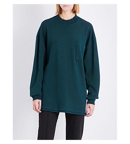 YEEZY Season 5 oversized cotton-jersey sweatshirt (Emerald