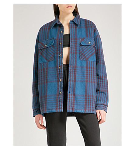YEEZY Season 5 oversized cotton-flannel shirt (Combo+2