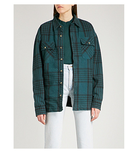 YEEZY Season 5 oversized cotton-flannel shirt (Combo+1