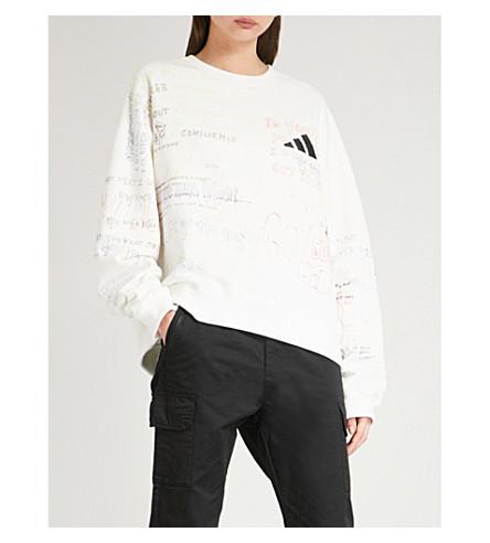 YEEZY Season 5 Handwriting adidas cotton-jersey sweatshirt (Heather