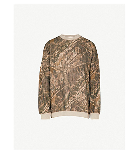 YEEZY Season 5 camo-print cotton-jersey sweatshirt (Cpn44