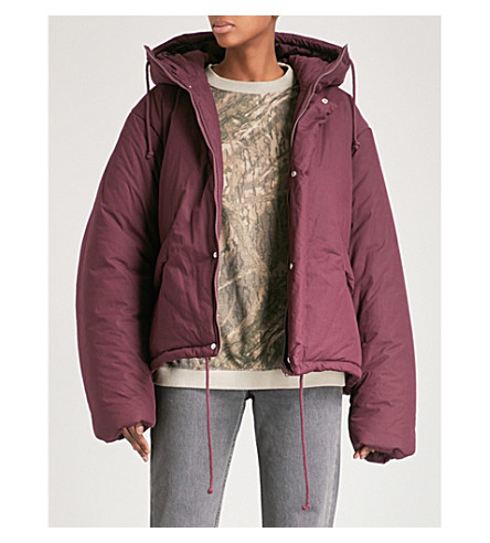 YEEZY Season 5 cropped cotton puffer jacket (Oxblood