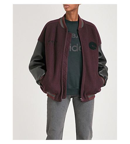 YEEZY Season 5 Cali boiled-wool bomber jacket (Burg