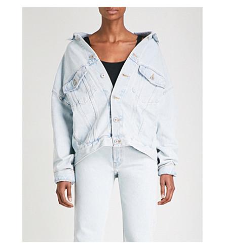 YEEZY Season 5 oversized denim jacket (Faded+indigo