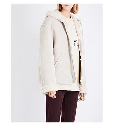 YEEZY Season 5 hooded shearling jacket (Birch