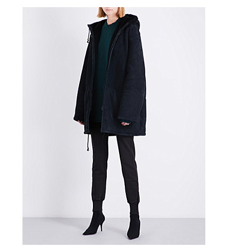 YEEZY Season 5 hooded shearling parka coat (Ink