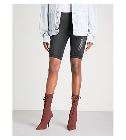 YEEZY Season 5 satin-jersey bike shorts (Ink+scorpio