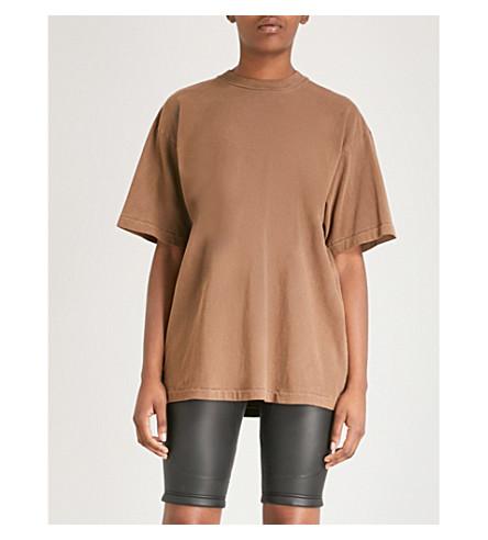 YEEZY 季 6 特大平纹针织棉 T 恤 (丘陵