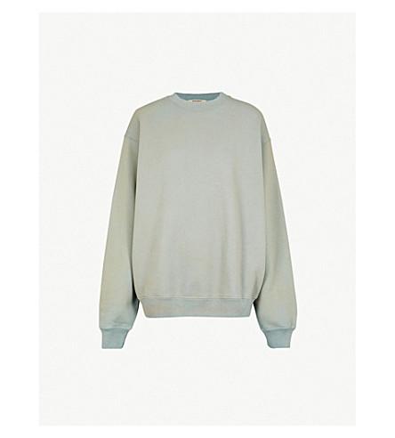 YEEZY 季 6 褪色的平纹针织棉卫衣 (冰川