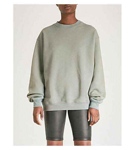 YEEZY Season 6 faded cotton-jersey sweatshirt (Glacier