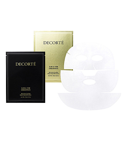 DECORTE Slim & Firm Concentrate Multi-Action Face Mask pack of 6