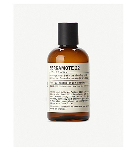 LE LABO Bergamote 22 bath and body oil 120ml